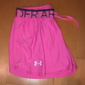 Under armour pink workout shorts